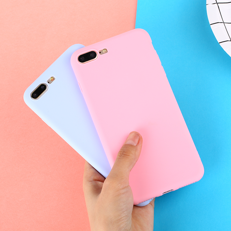 Color TPU Silicone Frosted Matte Iphone 7 8 Plus 6 6S X Plus 5 5S Soft Back Cover For Iphone 6 Plus 7 8 XR XS Max Case