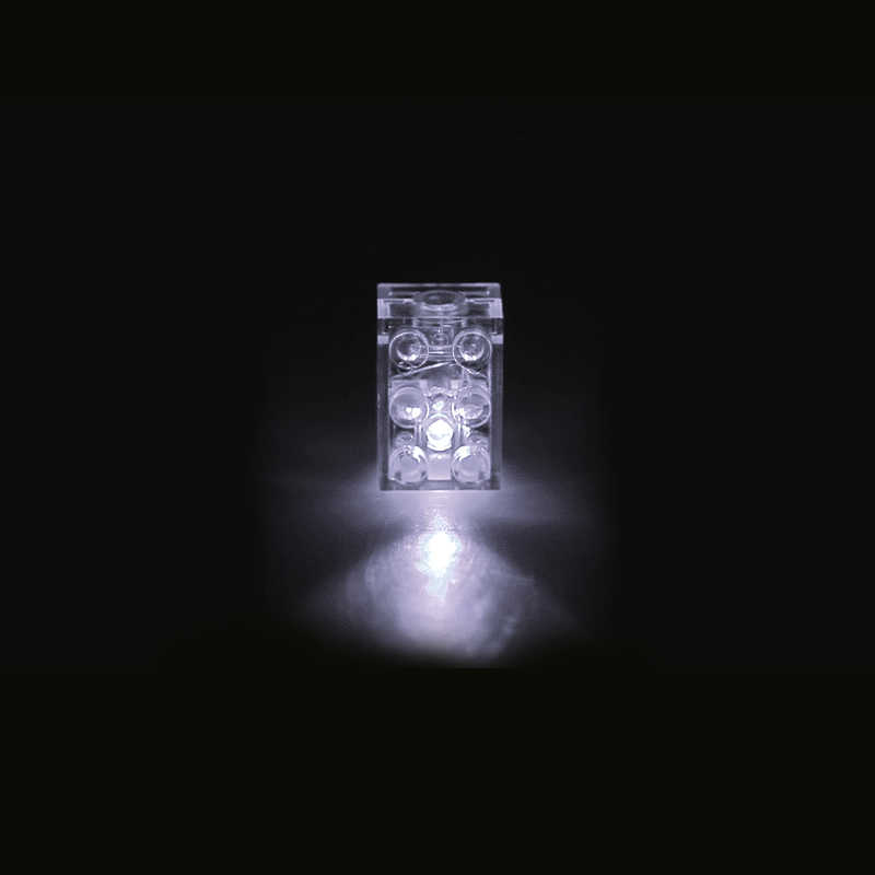 10 قطعة 2*3 الطوب الإضاءة اللبنات معرض السائبة Compatible بها بنفسك متوافق العلامة التجارية الأبيض الأحمر والأزرق أضواء وأضواء ملونة