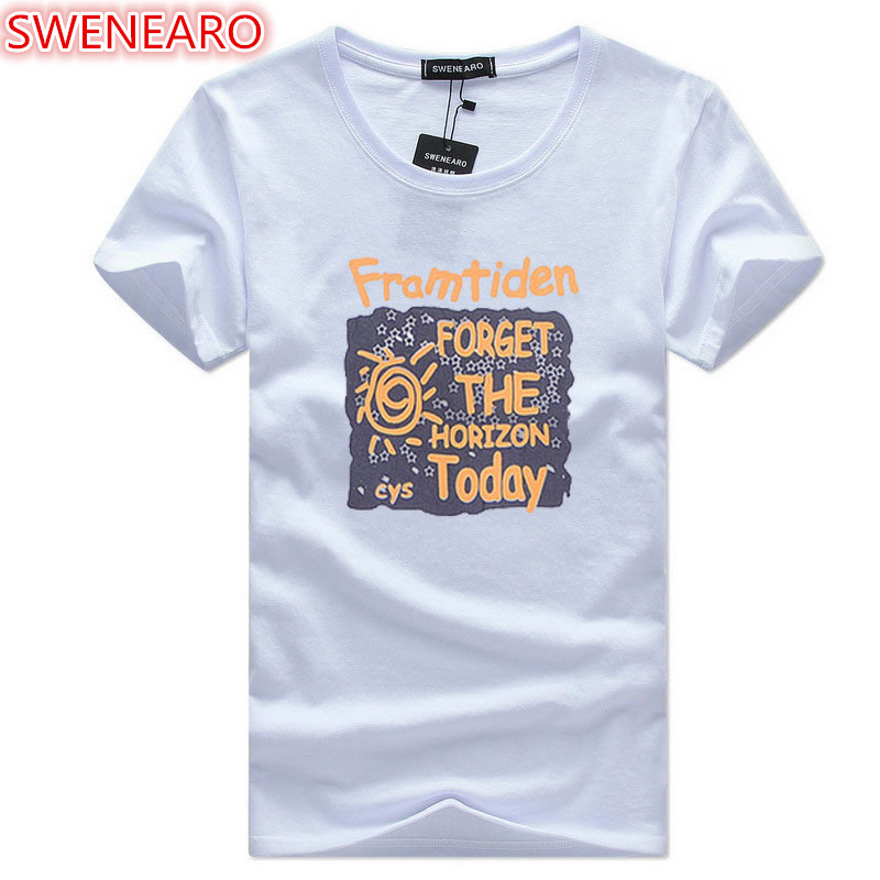 High Quality Cotton Men's T-Shirts 2018 Summer New Arrival Funny Teenager Men's T-Shirt with Print Advanced Large Sizes S-5XL