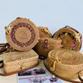 2019 женские круглые соломенные сумки ручной работы женские дизайнерские летние пляжные круглые богемные Ротанговые сумки через плечо Новая мода - фото