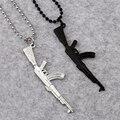 NYUK Мода Прохладный AK47 Пистолет Ожерелье Черный И Серебристый Цвет 70 см Длинной Цепи Хип-Хоп Ювелирные Изделия Bijoux Лучший Gif Для Друга