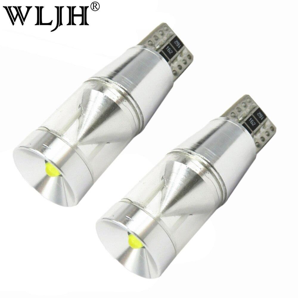 Wljh 2x canbus nenhum erro 500lm 9 w t10 w5w diodo emissor de luz do motor da microplaqueta luz do carro afastamento placa número de estacionamento backup luz reversa