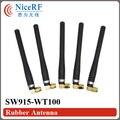 4 unids/lote SW915-WT100 915 MHz Ganancia 3.0 dBi Antena con SMA Macho cabeza De Goma para el módulo inalámbrico
