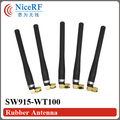 4pcs/lot SW915-WT100 915MHz Gain 3.0 dBi Rubber Antenna with Male SMA head for wireless module