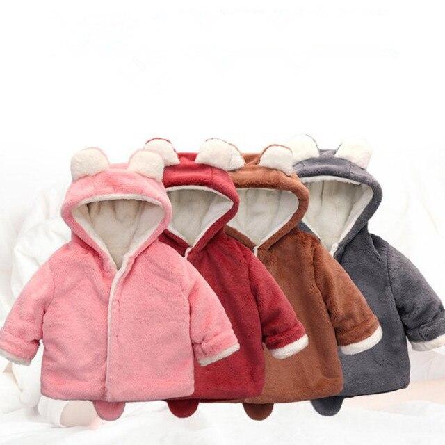 61ae7386ecfd Пальто для новорожденных; хлопковое пальто с капюшоном; зимняя одежда  маленьких ...
