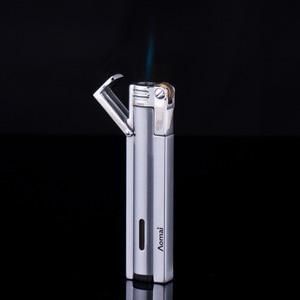 Image 4 - 2018 New Compact Jet Lighter Gas Torch Lighter Strip Gasoline Windproof All Metal Cigar Lighter 1300 C Butane Turbo Lighter