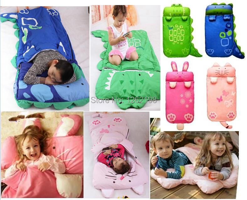 Baby Cartoon Kids Sleeping Bag Sack Wpillow 140cm60cmcat Rabbit