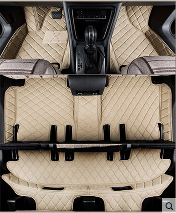 Customized full covered car floor mats for Seat Alhambra 7seats waterproof non slip carpets for Alhambra