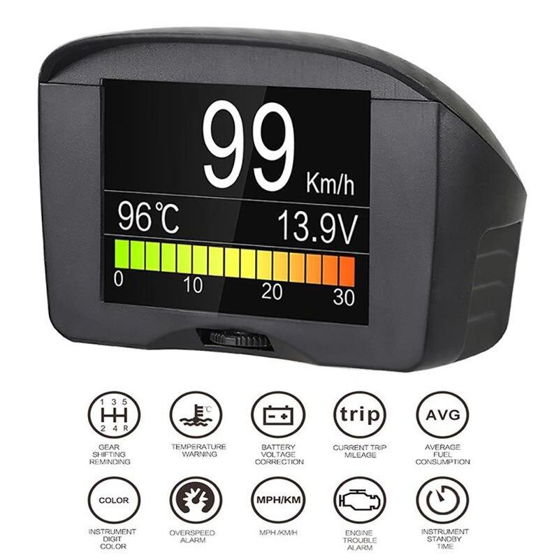 Автомобиля OBD диагностический цифровой Hud сигнализации код неисправности Температура воды датчик Напряжение Скорость метр Дисплей Авто Obd2 ...