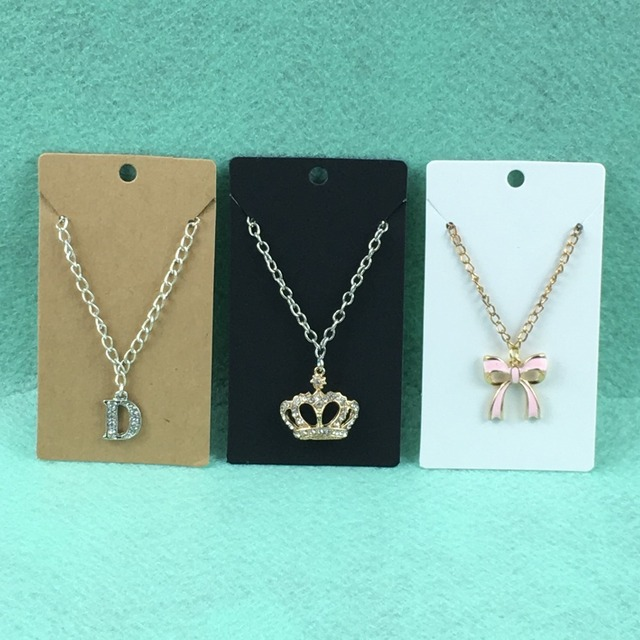 200pcs Jewelry Display Cards Necklace Earring Blank Paper Vintage Clic Card Accept Custom