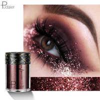 Pudaier 18 Farben Schatten Sparkle Glitter Lidschatten Schimmer Lidschatten Palete Kosmetik für Make-Up Lidschatten Augen Gesicht Makeups