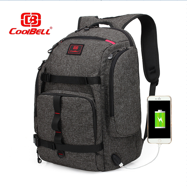 CoolBell Waterproof Anti-theft Backpack 17.3 Inch Large Capacity Notebook  Charging USB Port Laptop Backpacks School Bag Rucksack 364e8c233f4d9