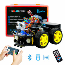 For Arduino Robot Cars APP RC Remote Control Ultrasonic Bluetooth Robotics Learning Kit Educational Stem Toys for Children Kids(China)