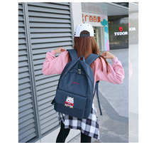 Корейские милые маленькие монстры рюкзак путешествия женщины летний новый полиэстер с вскользь маленький монстр мультфильм дизайн рюкзак