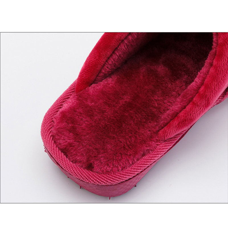 Men 39 s slippers Winter Warm Indoor shoes for boy Anti skid Sturdy Sole Memory Foam Soft 2019 New Gingham Fur slippers men