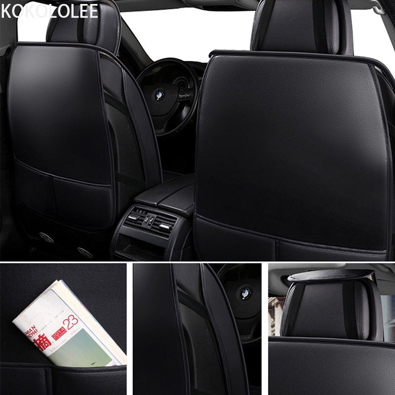[KOKOLOLEE] pu leather Car seat Covers for KIA All Models Rio K2/3/4 Cerato Sportage cars cushion auto accessories car styling - 5