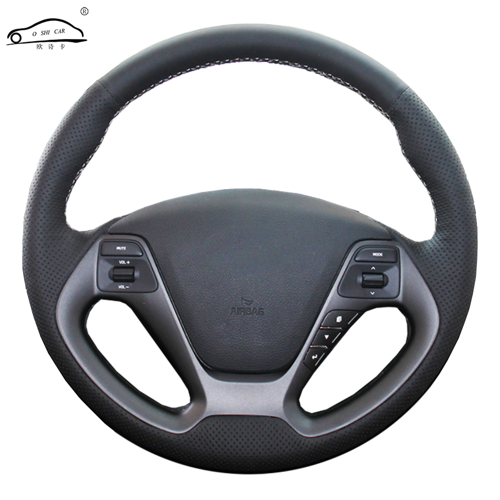 Genuine Leather car steering wheel Cover for Kia K3 2013 K2 Rio 2015 2016 Ceed Ceed 2012-2017 Cerato 2013-2017Genuine Leather car steering wheel Cover for Kia K3 2013 K2 Rio 2015 2016 Ceed Ceed 2012-2017 Cerato 2013-2017