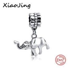 Cute Animals Elephant Charms Sterling Silver Slider Bead Women Jewelry Fits European Snake Chain Charm Bracelet недорого