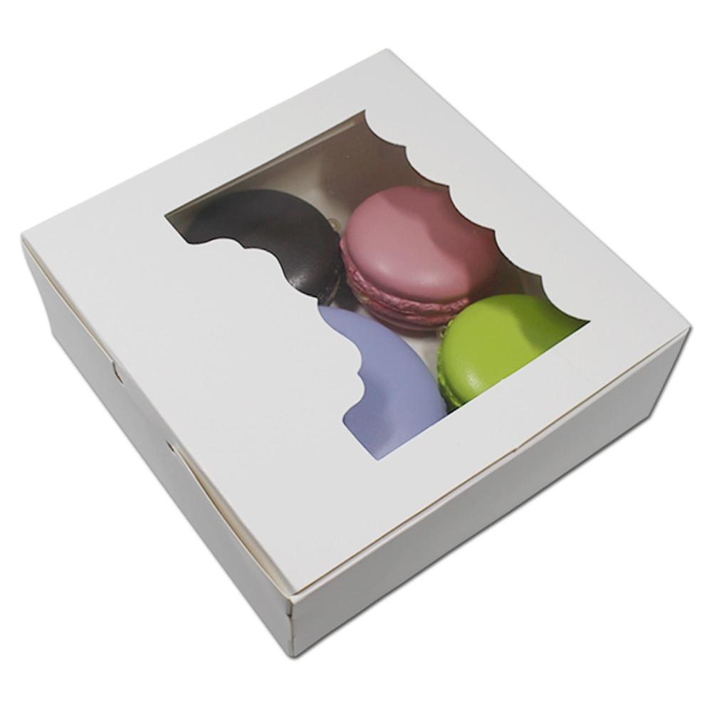Kraft PVC Paper Board Gift Box Case with Display Window Gifts Cake Dessert Box