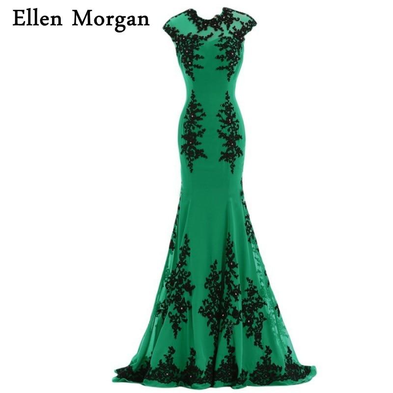 Green Mermaid Evening Dresses 2018 Cap Sleeve Special Occasion - Särskilda tillfällen klänningar - Foto 1