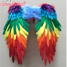 Amazing Multicolor Feather Wings For Kids Girls Halloween Pa