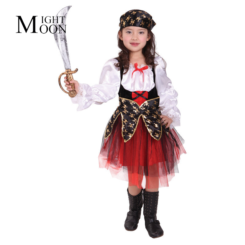 MOONIGHT Cosplay Clothing Pirates Of The Caribbean Clothing Nifty Girls Pirate Costumes Halloween