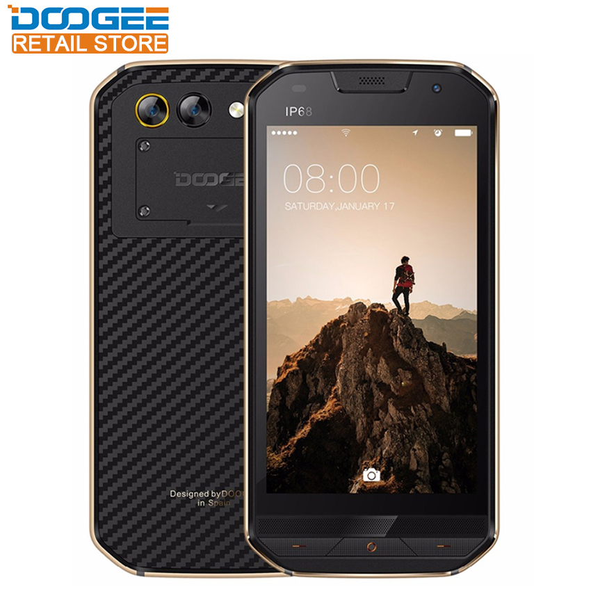 DOOGEE S30 IP68 Smartphone side fingerprint Dual camera 5.0 HD Android 7.0 MTK6737 Quad Core 2GB 16GB 5580mAh 4G Cellphone