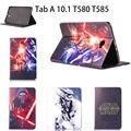 3d filme de ficção científica star wars caso para samsung galaxy tab um A6 10.1 2016 T580 T585 T580N Capa Tablet Suporte De Couro Funda