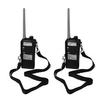 2pcs Walkie Talkie Accessories Black Extended Artificial Leather Holster for Baofeng UV-5R Series Retevis RT-5R/RT-5RV J7105L