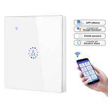 1pc WiFi Smart Boiler Switch Water Heater Smart Life Ewelink  APP Remote Control Echo Home Voice Control Glass Panel