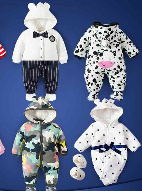 a6865eee3f947 ... Baby clothes for 0 to 3 month 6 month newborn baby autumn and winter  winter wadded ...