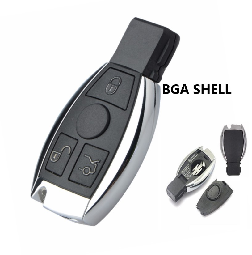 3 button Replacement Shell Smart <font><b>Remote</b></font> <font><b>Key</b></font> Case for Mercedes-Benz BGA CLS CLK CLA SLK W203 W210 <font><b>W211</b></font> AMG W204 image