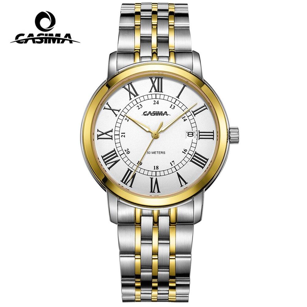 все цены на CASIMA Men's Classic Quartz Gold Watch Fashion Business Mens Watches Top Brand Luxury Watch Men Clock relogio masculino онлайн