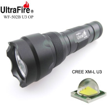 VUAN U-F WF-502B CREE XML U3 1300lm Cool White Light 3-Mode High>Low>Strobe OP LED Flashlight (1 x 18650)
