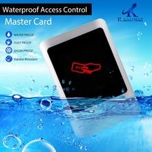 Всепогодный однодверный контроллер доступа без клавиатуры металлический чехол управление картами пользователи автономная карта 125 кГц