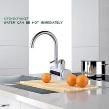 RU роскошный нежный Электрический кухонный кран хром полированный одно отверстие pull Подпушки Бортике горячей и холодной воды смеситель для кухни