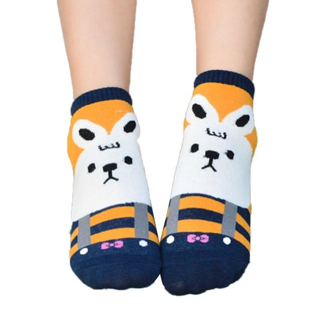 Adorable Girls Animals Cartoon Flexible Socks Women Cotton Socks