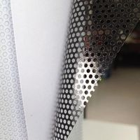 1.37x30m White One Way Vision Perforated Print Media Vinyl Privacy Window Film Adhesive Glass Wrap Roll(54x100ft)