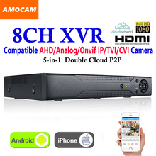 New CCTV 8Channel XVR Video Recorder All HD 1080P 8CH Super DVR Recording 5-in-1 support AHD/Analog/Onvif IP/TVI/CVI Camera