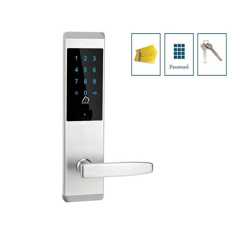 Apartment room door lock electric key code front door lock with M1 card  reader for office