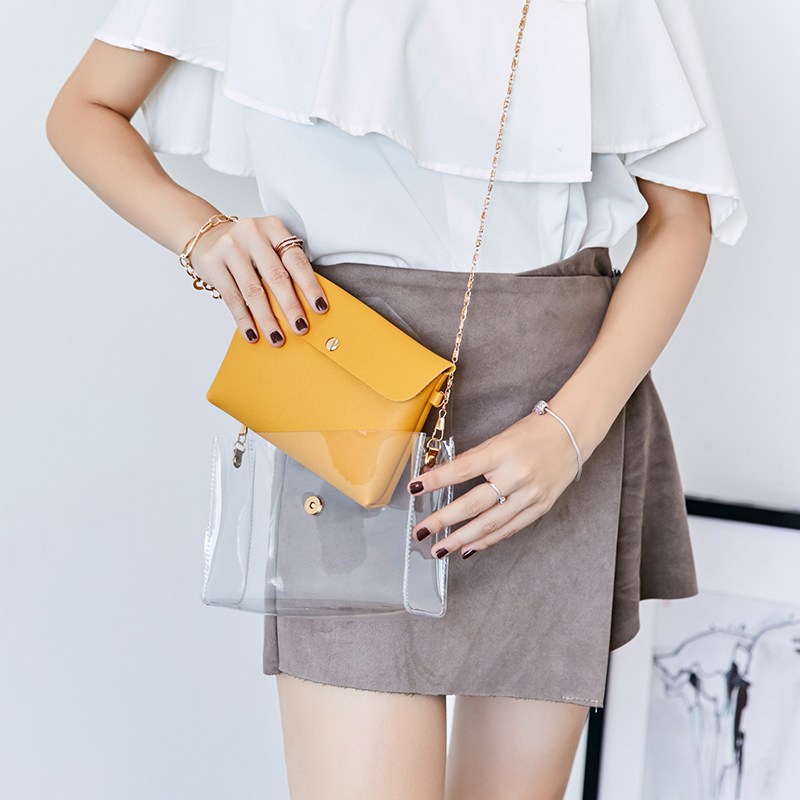 purses and handbags transparent handbag crossbody bags for women small Composite Bag Chains evening clutch bags in Shoulder Bags from Luggage Bags