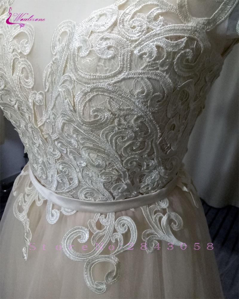 Waulizane Fabulous Applicaties Tulle A-lijn Trouwjurken Elegante - Trouwjurken - Foto 6