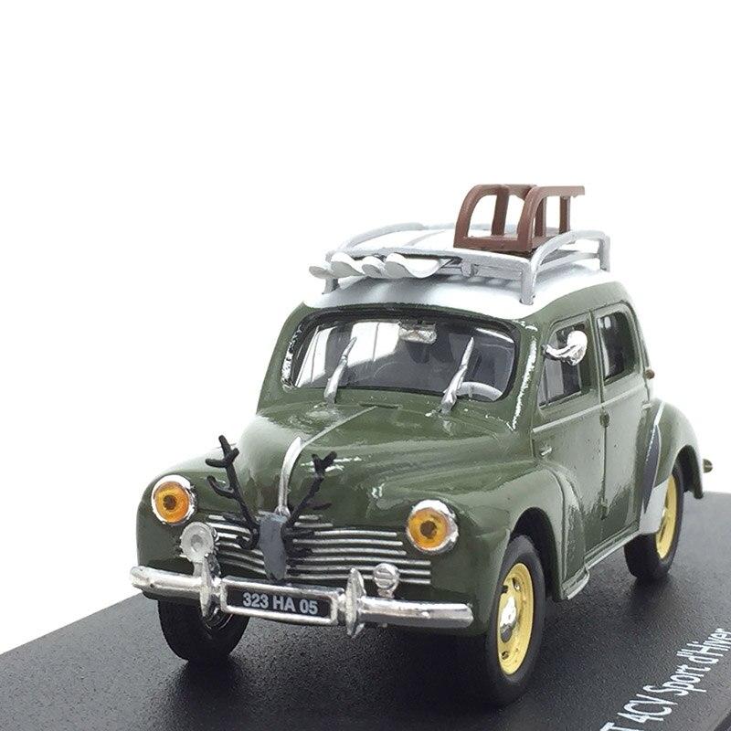 1/43 продвинутый сплав 4CV спортивные сани игрушечные модели машин автомобиль винтажный вагон детские игрушки для сбора-in Отлитые под давлением и игрушечные автомобили from Игрушки и хобби