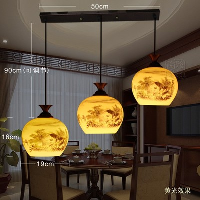 LED Modern Dining Room Ceramic Loft 3 Light Chandelier Restaurant Kitchen  Lights Lighting Fixture(China