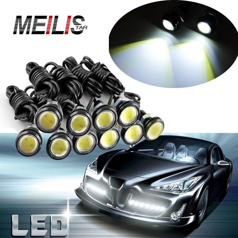 2Pcs High Power 18mm 12V Auto Car Eagle Eye Waterproof LED Daytime Running lights DRL Fog Parking Car styling Tail Warning lamp new arrival a pair 10w pure white 5630 3 smd led eagle eye lamp car back up daytime running fog light bulb 120lumen 18mm dc12v