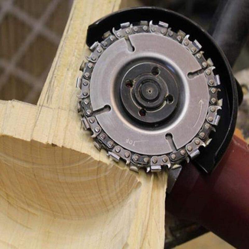 Резьба по дереву угловая шлифовальная машина цепной диск для углового шлифовального станка деревообрабатывающие гаджеты 4 дюйма угловая