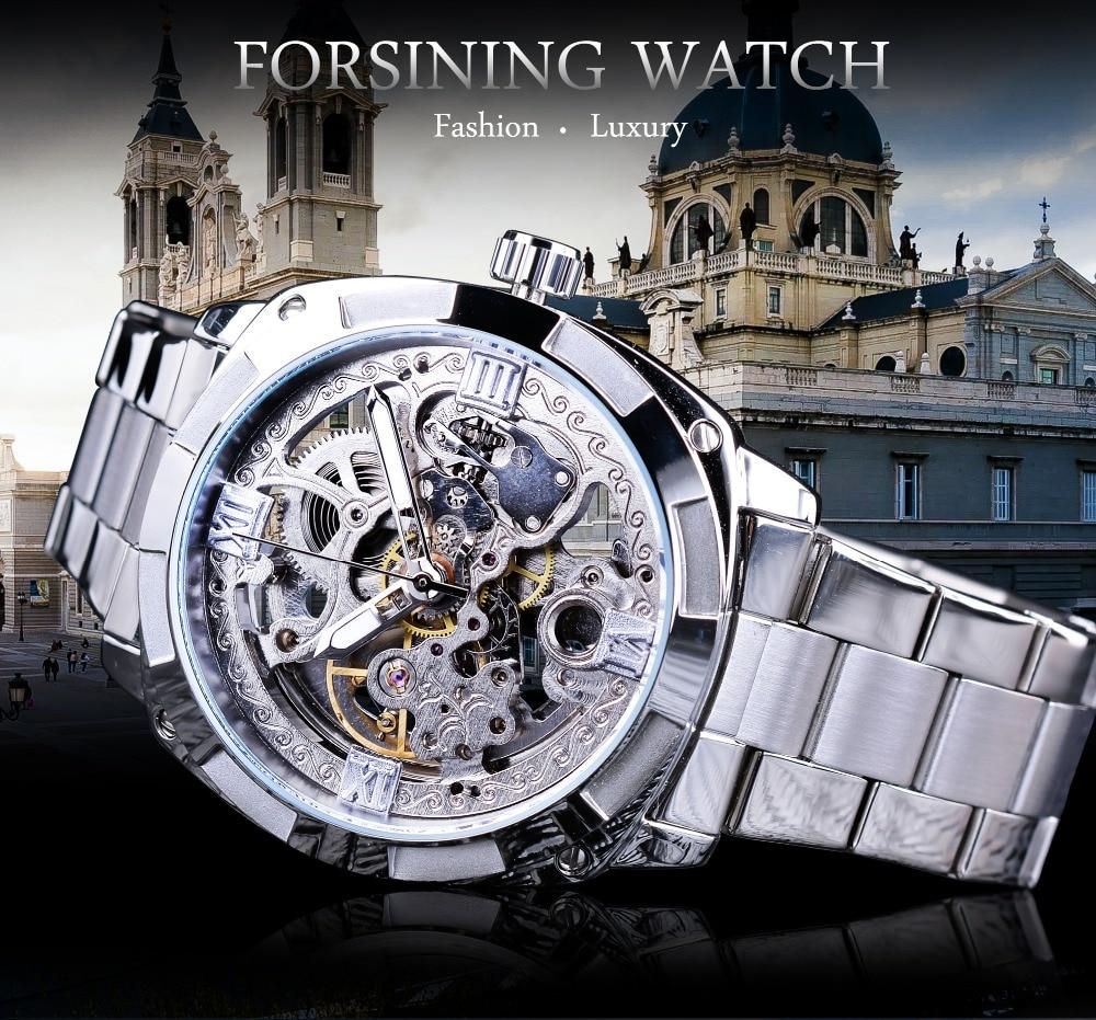 Descuento Forsining, lujo Relojes 1