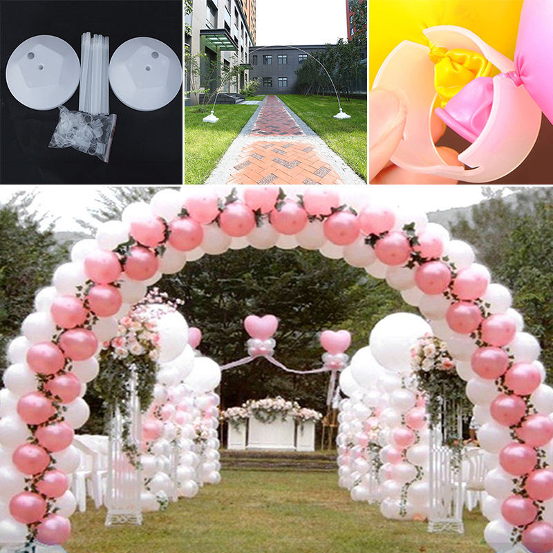 1 Set Balloon Column Arch Base Upright Pole Display Stand Wedding Birthday Party DIY Accessory Home Decoration  Pergola Jardin
