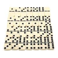 Neuheiten 28 Pcs Doppel Sechs Dominosteine Gesetzt von 28 Traditionellen Bord Reise Spiel Spielzeug Bambus Box für Kinder Kreative geschenk Klassische Spielzeug
