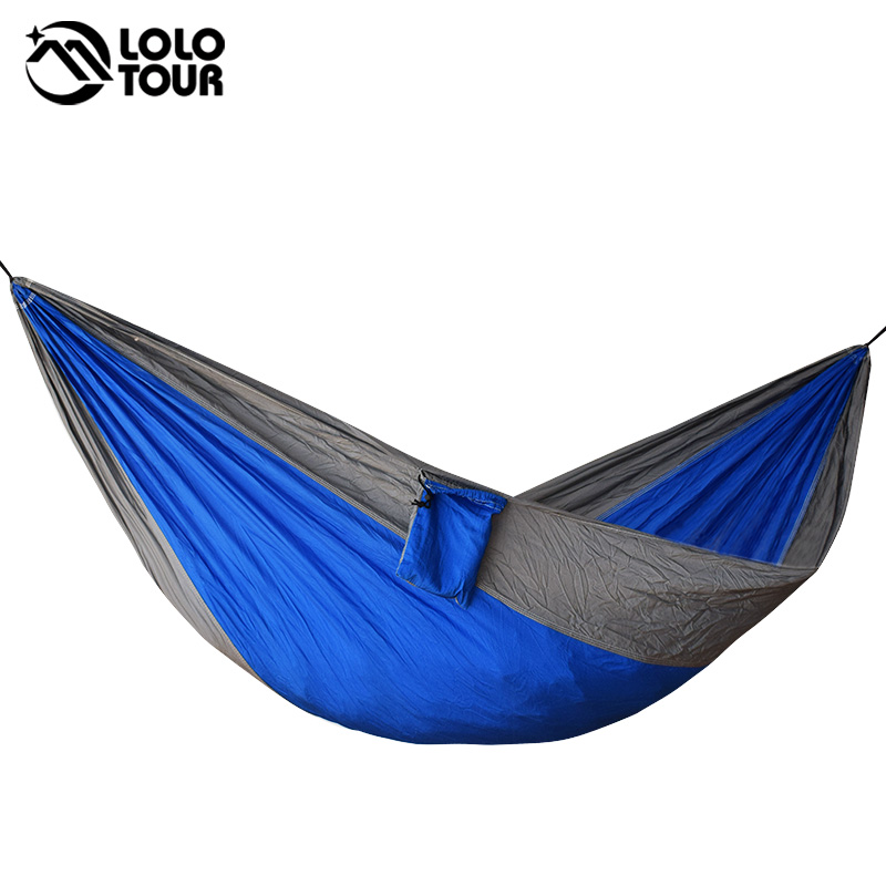 Portable one person parachute Hammock Swing indoor outdoor Leisure Camping hang Bed Garden hamak Sleeping hamac hamaca 230*90cm outdoor sleeping parachute hammock garden sports home travel camping swing nylon hang bed double person hammocks hot sale